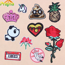 ZOTOONE Heart Unicorn Flower Rose Set Cartoon Funny Stool Embroidered Patch Iron On Patches Clothes Badges Applique Stickerse B1