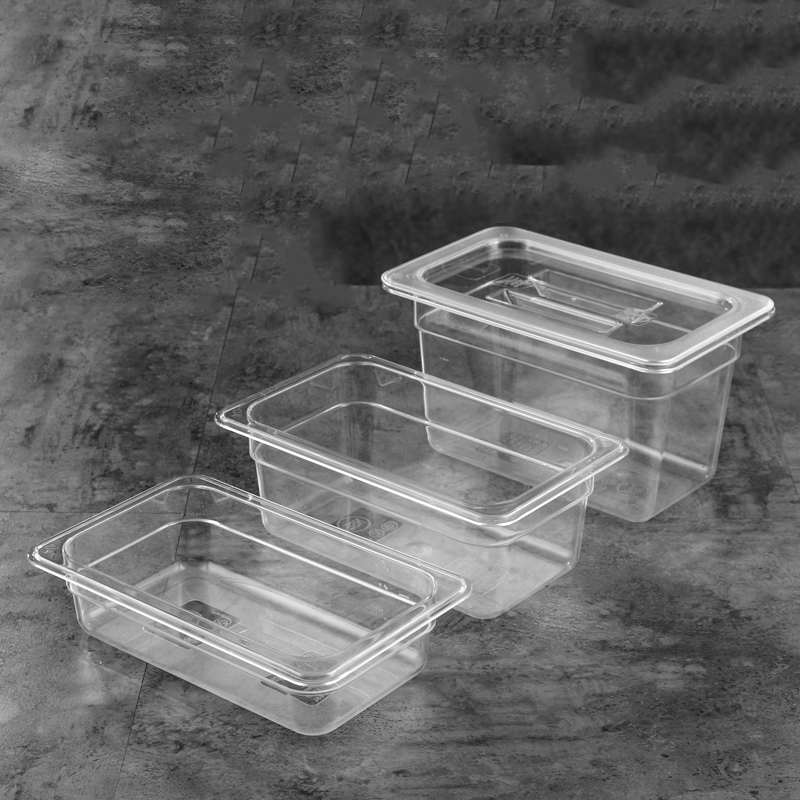 Break-resistant Clear Polycarbonate Clear Meal Prep Food Container Microwavable Box Kitchen Accessories