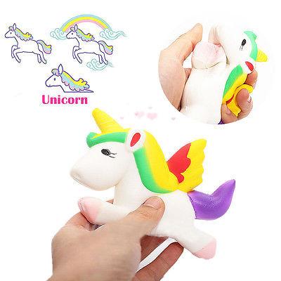 12CM Kawaii Unicorn Squishy Slow Rising Cartoon Doll Press Animal Collectibles