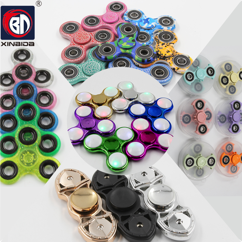 BD Fidget spinner Hand Spinner metal Colors Triangle EDC