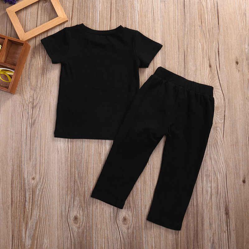 4e31a93cccdc ... Toddler Kids Baby Boy Clothes Set Outfits Clothes No pain no gain T-shirt  Top