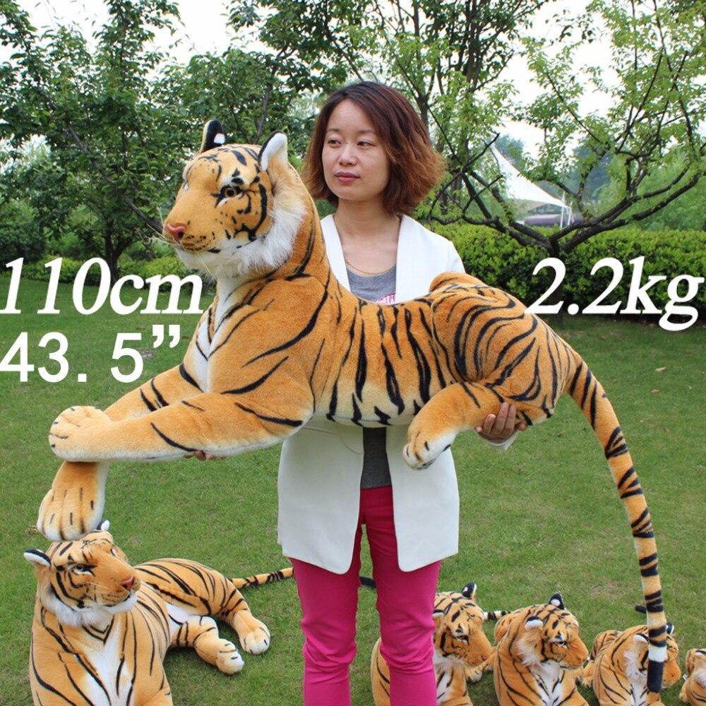 JESONN Giant Realistische Knuffels Tiger Grote Levensechte Knuffels voor kinderen Verjaardagscadeautjes - 3