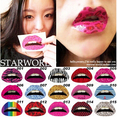 10pcs/lot party gift sexy women Funny Lip Sticker rave exaggerated stage makeup Performing Arts Photo temporary tattoo sticker