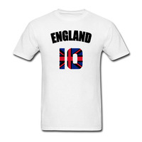 Funny England Flag Englisher Soccerli Footballer T Shirt Casual Short Sleeve Hot Hipster Tops Customize Printed