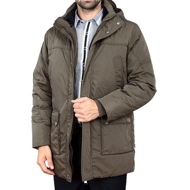 De mediana Edad Casuales de 2016 Nuevos Hombres de Pato Blanco Abajo Chaqueta Largo grueso Parka Hombres Abrigo de Invierno Marca Cloth Jaqueta masculina T629