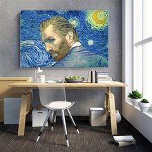 van gogh decoracao para casa painting starry night diamond eigen foto rotterdam christmas