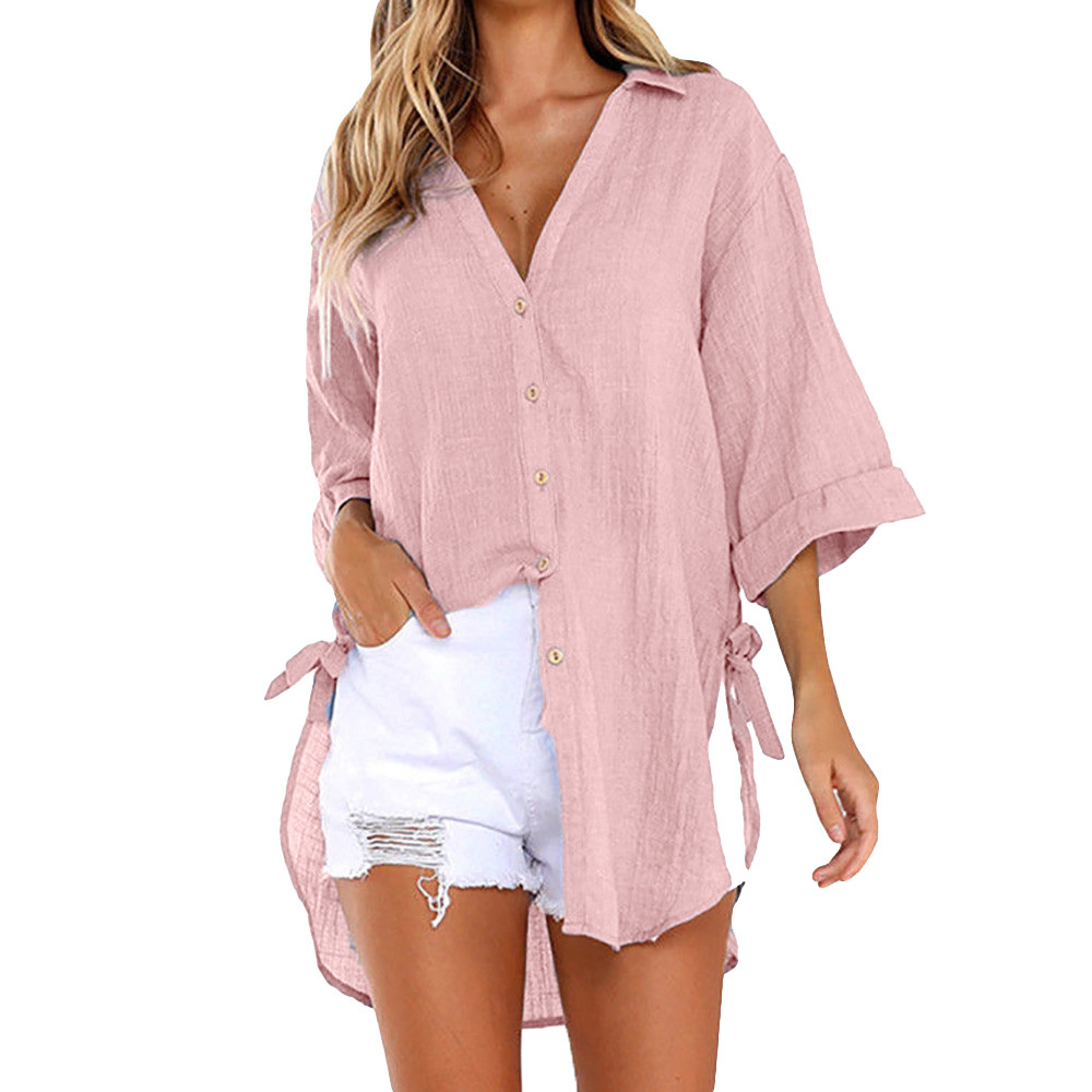 New Fashion Women Loose Long Sleeve Casual Chiffon   Blouse     Shirt   Dress Stylish Womens Sexy V-neck   Blouses   Mini Dresses #E