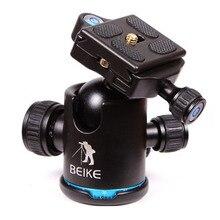 blue Beike BK-03 Digicam Tripod Ball Head with Fast Launch Plate 1/four Screw Common For Canon Nikon DSLR Digicam