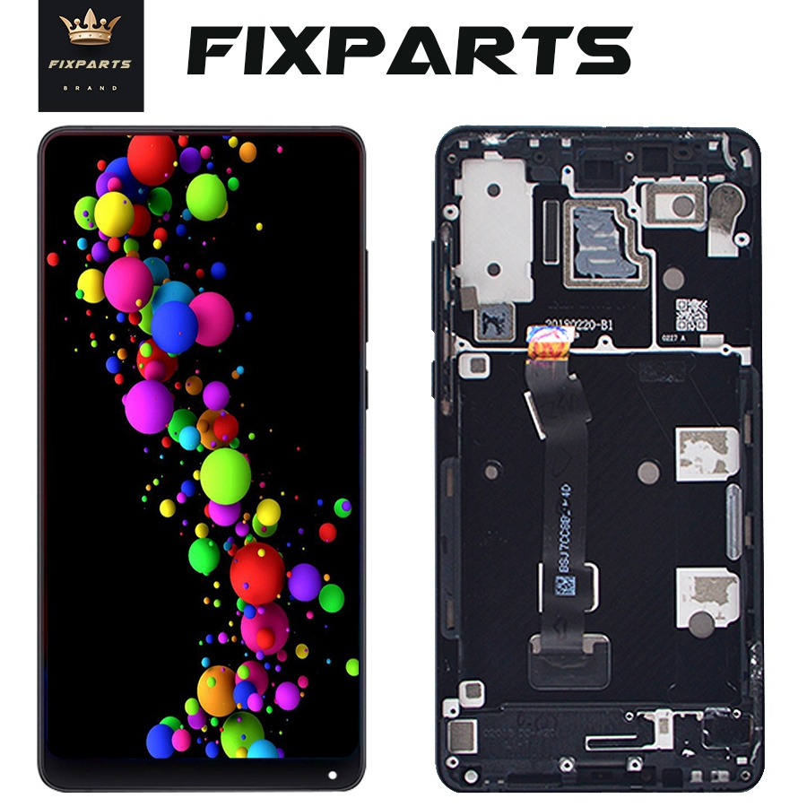 """Black Screen for Xiaomi Mix 2S LCD Mix2S Display Touch Screen Digitizer Glass Panel Frame 5.99""""For Xiaomi Mi Mix 2S LCD Screen"""