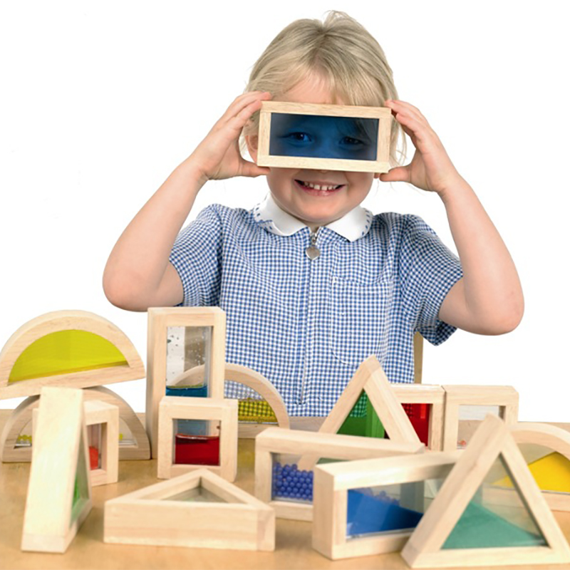 16 pièces enfants en bois jouet enfants blocs Stand contrôle bébé Protection de l'environnement grands blocs en bois éducation précoce jouets d'apprentissage