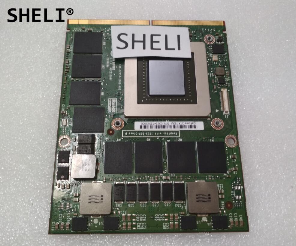 SHELI FJHX2 CN-0FJHX2 GTX 780 M GTX780M N14E-GTX-A2 4G DDR5 VGA vidéo Carte Graphique Pour Dell M17X R5 M18X R2 R3 R4