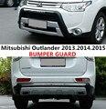 Автомобильный бампер для Mitsubishi Outlander 2013.2014.2015 бампер пластина высокого качества ABS Передние + задние автомобильные аксессуары