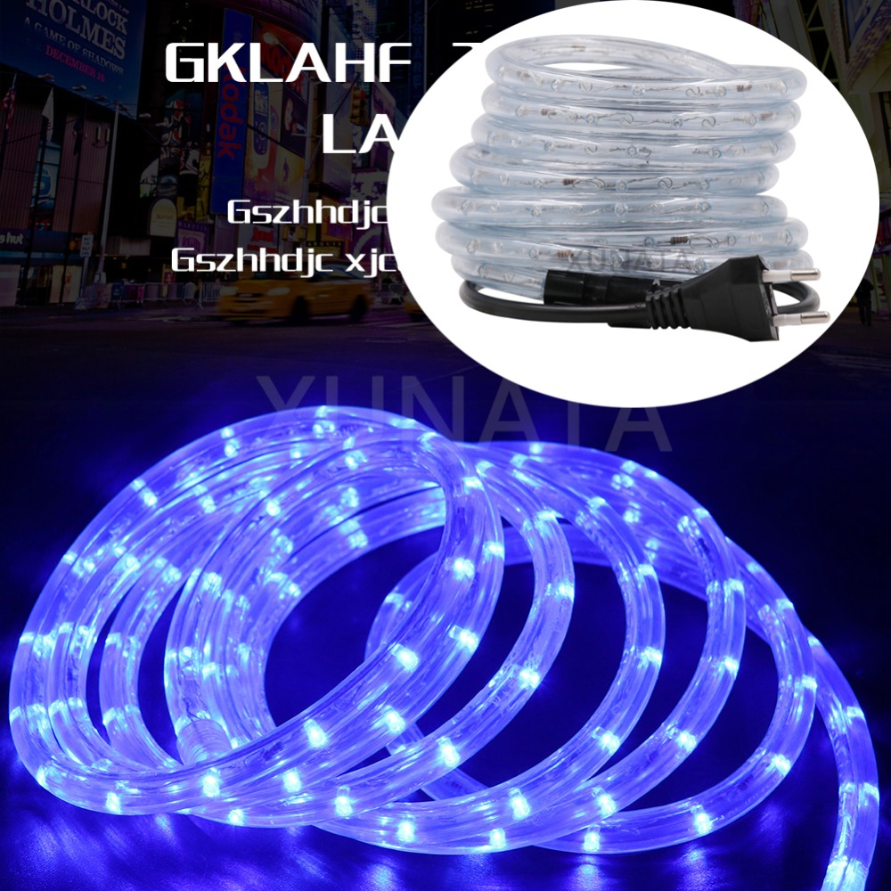AC220V EU LED Strip IP68 Waterproof Neon Sign LED Light Christmas Party Decoration Outdoor Rainbow Tube Rope Light Led Strip
