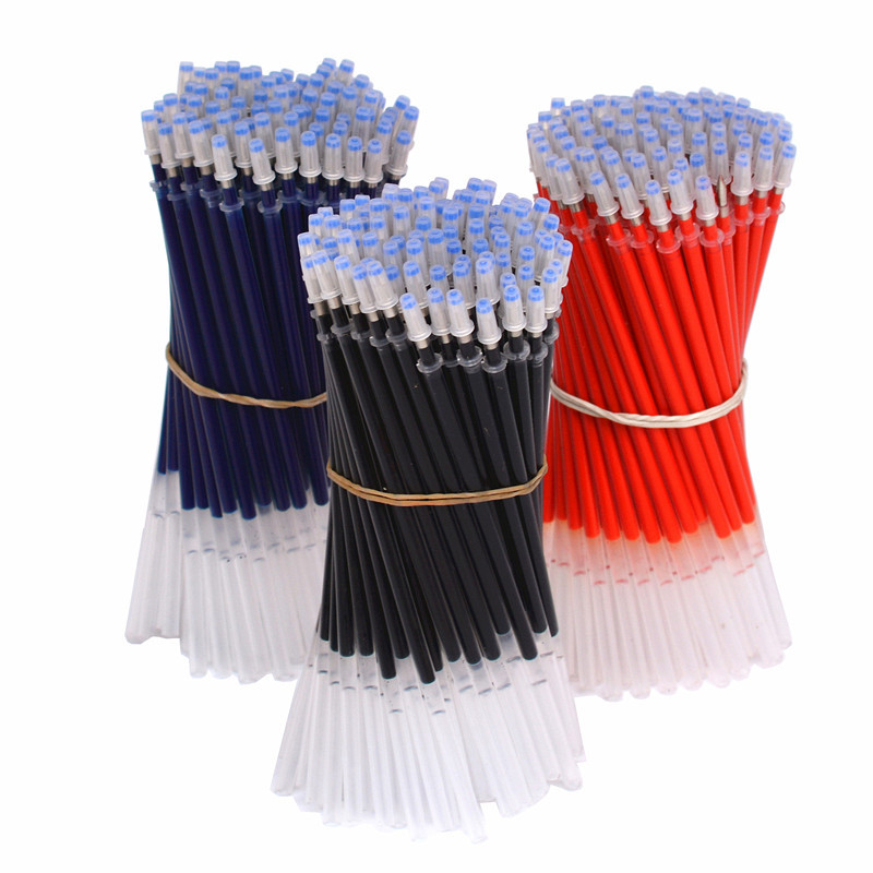 20Pcs 0.38mm Gel Pen Refill Office Signature Rods Red Blue Black Ink Refill Office School Stationery Writing Supplies