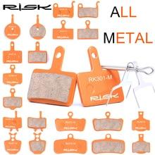 RISK Full-metal Bicycle Disc Brake Pads for Shimano XT XTR M8000/Sram/Avid/Magura/Giant/Formula/Tektro Disc Brake Pads 1 Pair велосипед giant escape 2 disc 2019