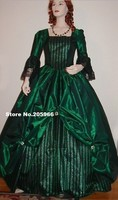 Custom Made Marquise II Stylish Flare sleeves Lace Deco Taffeta&Satin Made Ball Gown Victorian Dress/Party Dress/Event Dress