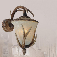 American style Wall Lamps retro vintage resin antlers antique bars creativity aisle lights balcony lamps LU729324