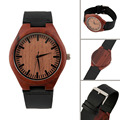 Vintage Red wooden watch wood dial quartz watches Men Women Couple Watch New Hot Selling