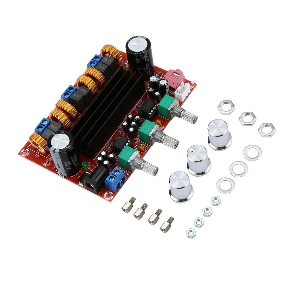 Новая версия Усилителей Высокой мощности двойной чип TPA3116D2 50Wx2 + 100 Вт 2,1 путь цифровой сабвуфер усилитель мощности доска дропшиппинг