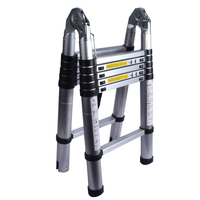 1PC 1.9M+1.9M Alluminum Telescopic Ladder With Joint