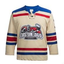 EALER синтетический хоккейный свитер с вышивкой Заказные майки