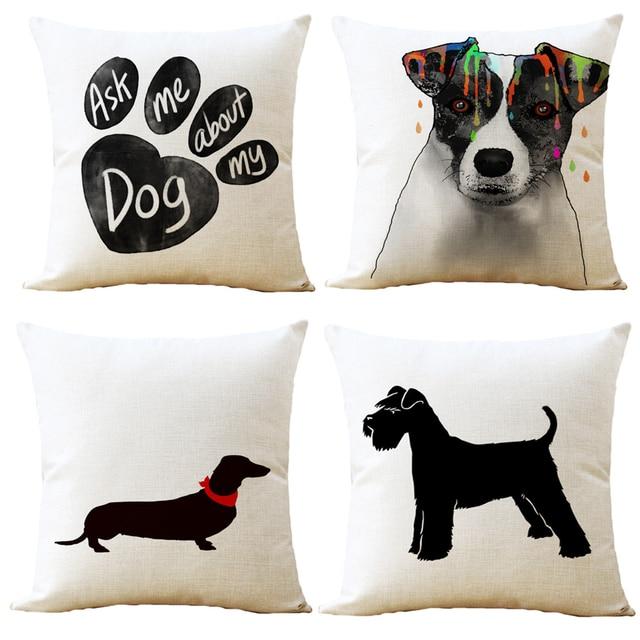 A quality dog printed cushion cover sausage dog puppy pillow case pillow cover dog cushion
