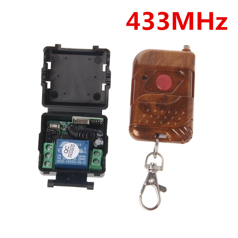 DC12V 10A 315mhz Relay Wireless RF Remote Control Switch Transmitter+Receiver MT