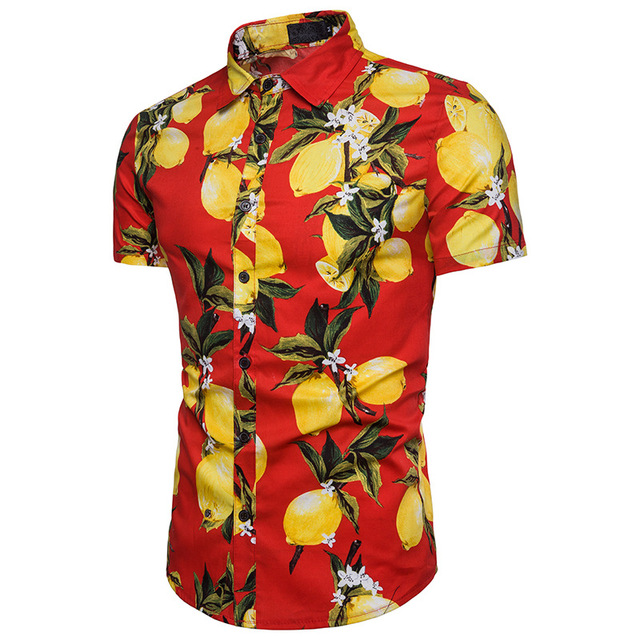1a5c6f85d Mens Hawaii Print Casual Short Sleeve Polo Shirt | 2018 Brand New Summer  Male Turn-down Beach Polo Shirt Men Cotton Shirt