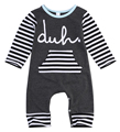 Newborn Kids striped letters long sleeve Romper Baby Boy Girl Warm Infant Romper Jumpsuit Clothes Outfits 2016 NEW Fashion