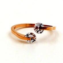 Бесплатная доставка кольцо из нержавеющей стали цвета розового