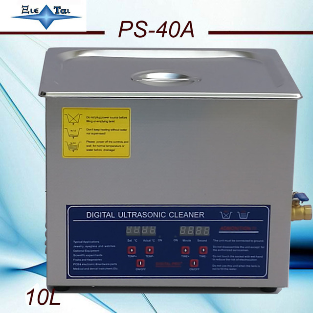 Globe  AC110/220 digital  heated Ultrasonic cleaner 10L PS-40A digital timer & heater control hardware parts with free basket