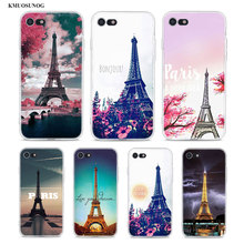 Transparent Soft Silicone Phone Case Love Paris Eiffel tower for iPhone XS X XR Max 8 7 6 6S Plus 5 5S SE
