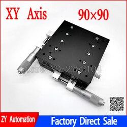 XY eje 90*90mm recorte estación Manual desplazamiento plataforma lineal etapa de mesa deslizante XY90-LM XY90-C LY90-R Cruz carril