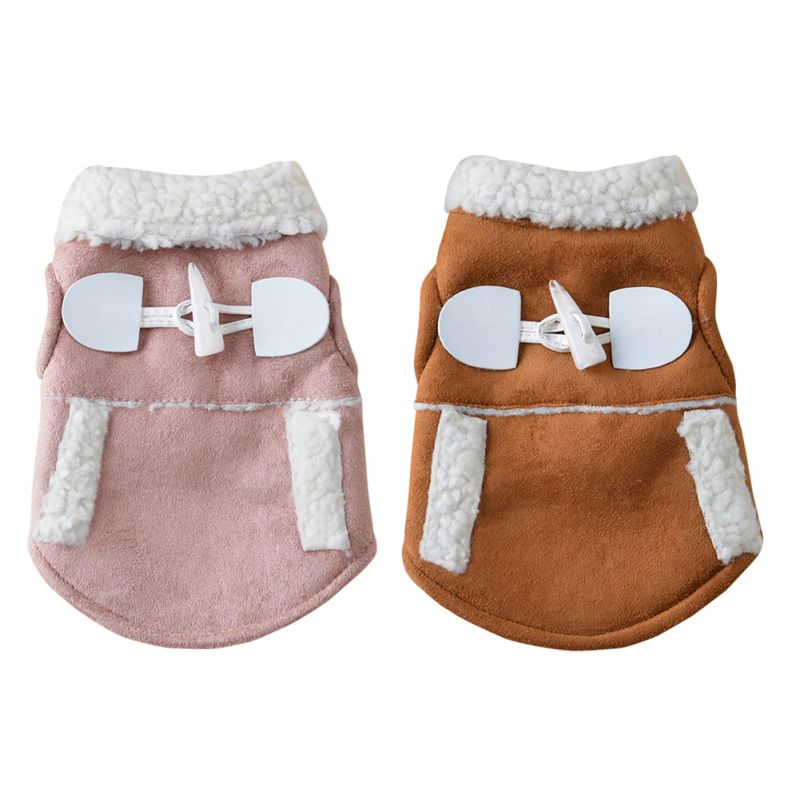 Small Pet Dog Cat Winter Clothes Coat Apparel Puppy Warm Motorcycle Vest Costume