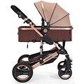 6 Cores da liga de alumínio Leve Carrinho De Bebê De Luxo Alta Paisagem Carrinho De Bebê Para Bebê Recém-nascido Quatro Rodas de Sentar e Deitar