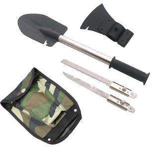 Four in one Multifunctional shovel Engineer Spade Special tents mini tools Iron Removable Outdoor gardening Survival shovel