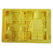 5x Silicone Robot Ice Mold Cream Tools Color Yellow Tubs Cake Free Shipping