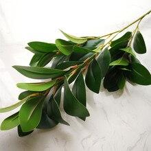 Один поддельный длинный ствол водной ресс лист зелени моделирование зеленые растения листья для свадьбы декоративные искусственные планки