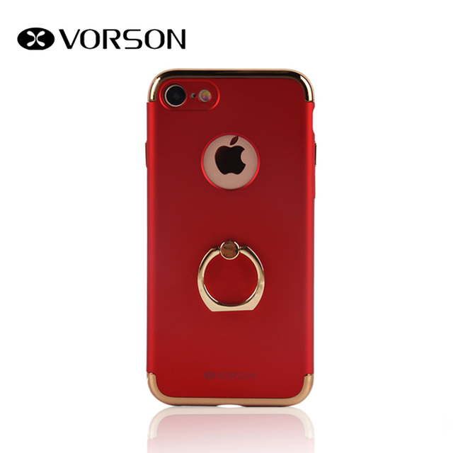 uk availability eb3fb db3a2 US $9.99 |VORSON Luxury Grip Stand Back Cover For Apple iPhone 7 Finger  Ring Case TPU Phone Capa Fundas + Tempepred Glass-in Half-wrapped Case from  ...