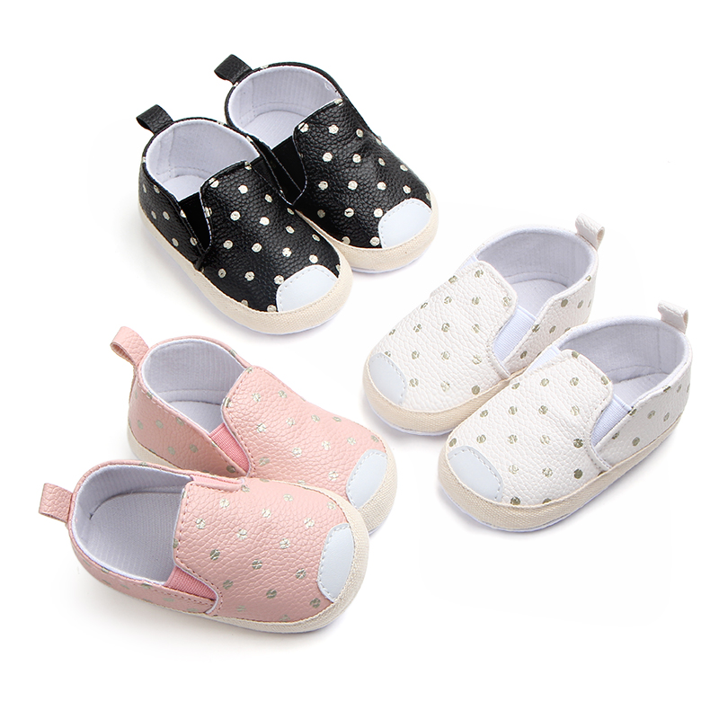 Newborn Leather Shoes For Baby Girl Leather Slip-on Moccasin  Soft Sole  Baby Girl Sneakers Black Infant Shoe For 0-18 Month