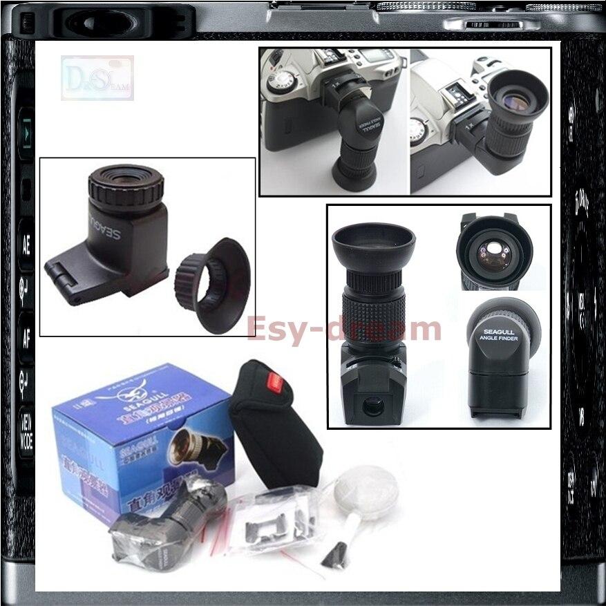 Mouette à Angle Droit Trouveur Viseur 1X-2X pour Canon 700D 5D Mark II III 6D 70D Nikon D600 D3300 D5500 D7100 Pentax K3 K5 K7
