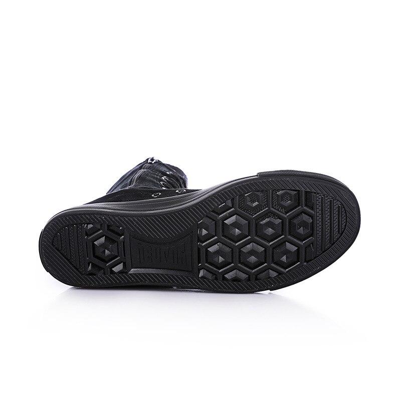 Negro Verano Nueva Zapato Lona El Lateral Side Zapatos Ocasionales Planos 2018 Primavera De Y Negro blanco Botas Corto Transpirable Cremallera Crystal Mujeres Canister rwWqSfr48