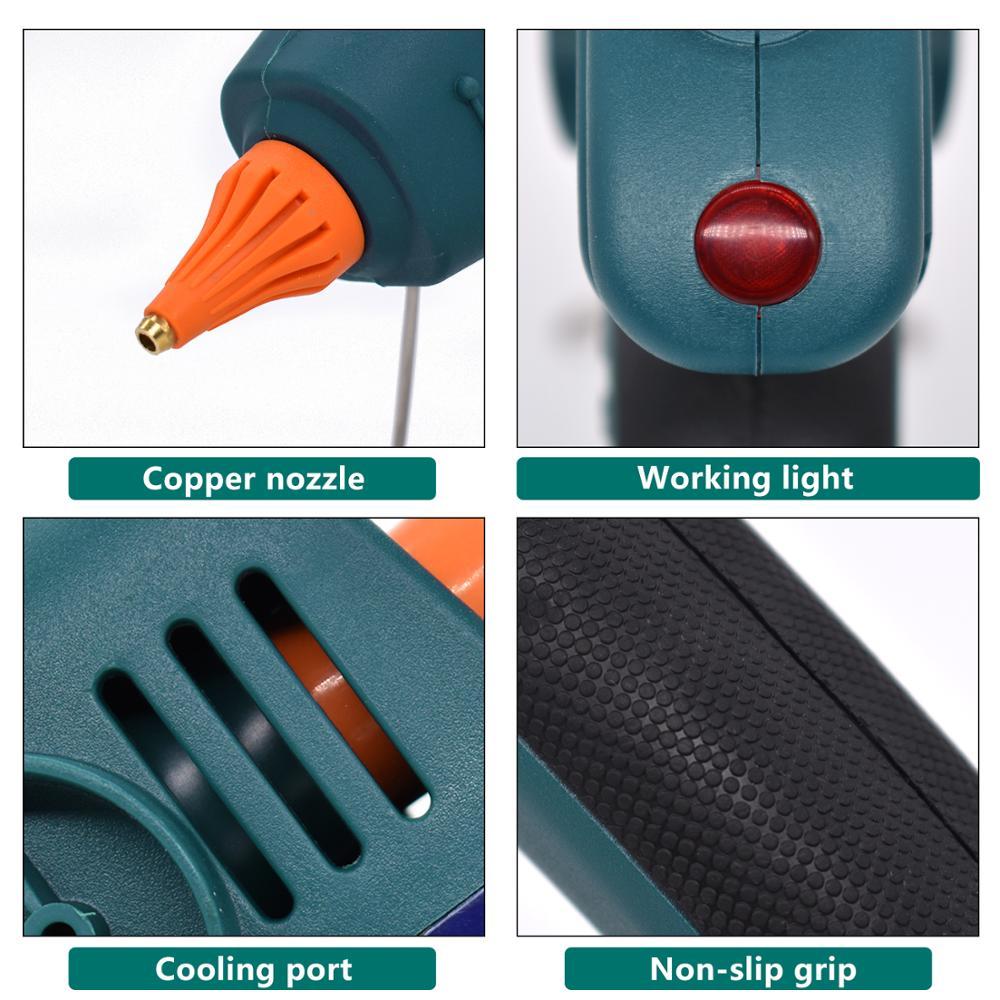 300W 400W 500W High power Hot Melt Glue Gun Professional Industrial Craft Repair Tools Heat Glue Gun with 11mm Glue Sticks in Glue Guns from Tools