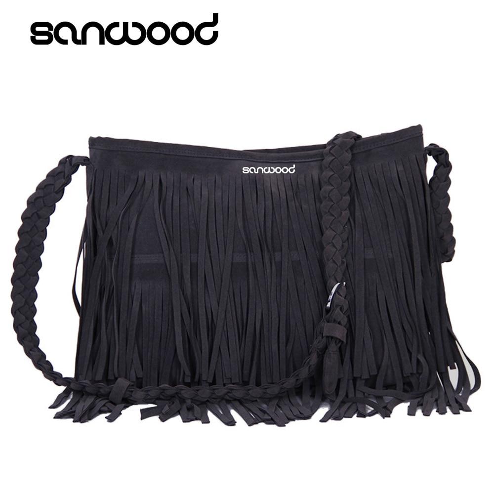 Handbag Satchel-Bag Fringe Tassel-Shoulder Cross-Body Messenger Fashion Women's Hot New