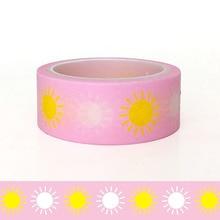 20pcs/set Pink Sunflower Festival Children DIY Decorative Washi Tape Sticker Cute Handbook Kawai Wholesale