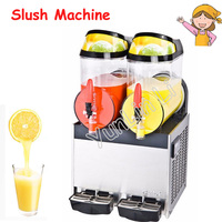 10L Double Tank Beverage Machine Stainless Steel Slush Machine Snow Melting Ice Machine Drinks Dispenser XRJ 10L*2