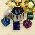 D4mm 216 unids Neo Bolas Magnéticas del Imán del Cubo Mágico Puzzle espaciador de los Granos Imán Bloque Mágico Educación Juguete Joyas con metal caja
