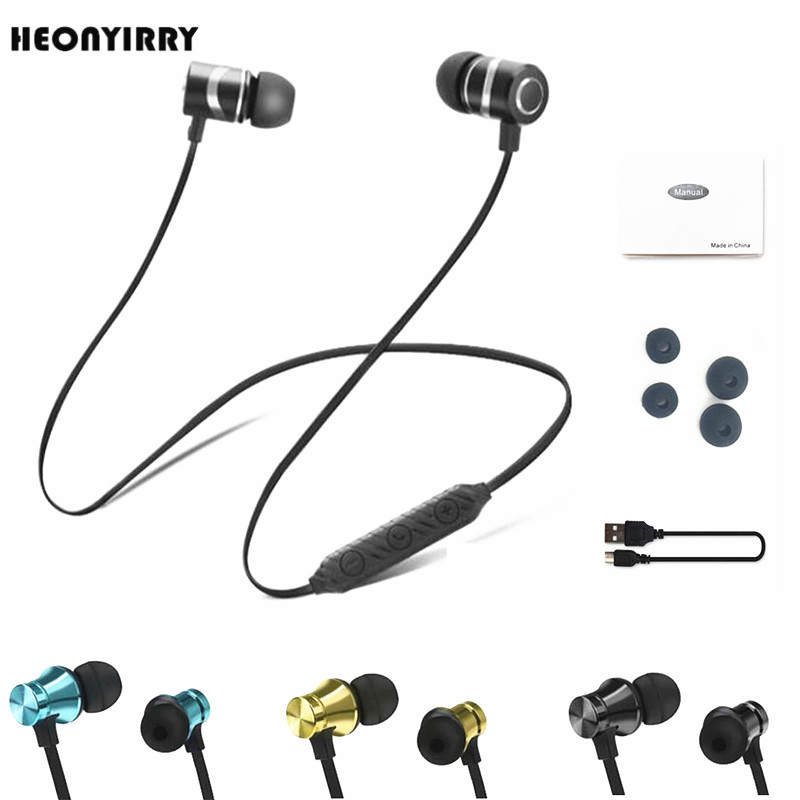 Wireless Headphone Bluetooth Earphone Metal Sports SweatProof Earpiece Magnetic Headset Stereo For xiaomi iPhone Auriculare наклейки brother dk44605 62мм клеящаяся желтый