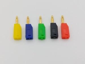 Image 5 - 200 pcs 2 millimetri Placcato Oro Spina A Banana 5 di Colore