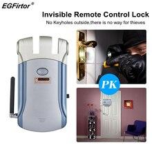 Cerradura electrónica Invisible inteligente, sin llave, Control de acceso de puerta, cerradura inteligente para seguridad del hogar, antirrobo